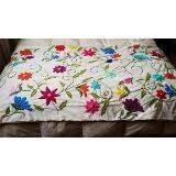 Resultado de imagem para bordado mexicano patrones pie de cama