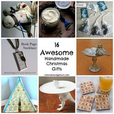 16 Awesome Handmade Christmas Gifts. Easy ideas that are upcycled, homemade and very cute. These are DIY gifts you actually want to receive!