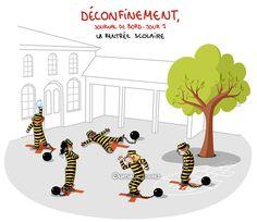 COVID19 - Déconfinement, journal de bord illustré, jour 1, by ©Nathalie Jomard COVID19 - Journal de bord illustré, jour 28, by ©Nathalie Jomard #nathaliejomard #covid19 #coronavirus #illustration #humour #humor #confinement #quarantaine #quarantine #deconfinement #ecole #enfants #kids #children #recreation #courderécré #school #comics #bd #dessin #drawing #funny #drôle #covid_19 #covid #illustrator #lockdown #distanciationsociale Drawing, Yoshi, Mario, Illustration, Family Guy, Kids Rugs, Cats, Fictional Characters, Funny Drawings