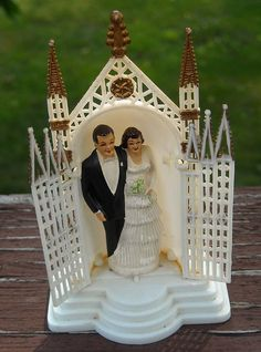 vintage wedding cake topper by Garage Sale Girly, via Flickr