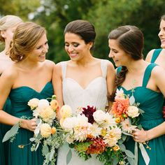 Sam and Jamie's beautiful fall wedding on Southern Weddings |Photo Rachel Moore Photography|