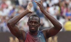 Usain Bolt responds to the Olympic Stadium crowd