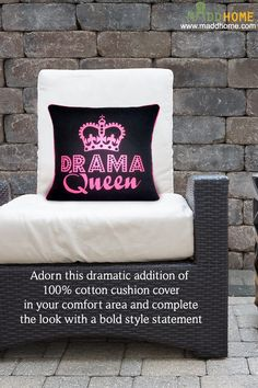 Add Boldness with Cuteness with these Drama cushion covers  #MaddHome #HomeDecor #CushionCovers  Shop Now:- https://www.maddhome.com/all-cushion-covers-online/miss-drama-queen-cushion-cover.html