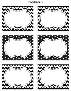 black and white polka dot labels...