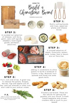 How To Build A Charcuterie Board. Easy step by step guide to creating the ultimate cheese tray. Learn how to build a beautiful charcuterie board using this step by step guide. Includes suggestions for meats, cheeses and more! Charcuterie And Cheese Board, Charcuterie Platter, Cheese Boards, Charcuterie Recipes, Meat Platter, Antipasto Platter, Charcuterie Wedding, Charcuterie Picnic, Macaroni And Cheese