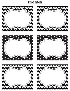 I am always on the lookout for free printable tags that have a basic design that I can use for a party. These black and white labels from Cupcake Express are so perfect for that - I love the fancy frame, I love the modern background pattern, and I love the color {so classic}. Use these for