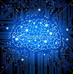 circuit board brain #network background Lizenzfreie Vektorillustrationen ©VOLODYMYR GRINKO