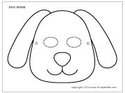 Dog Mask 3 Template Cow Puppy Crafts Paper