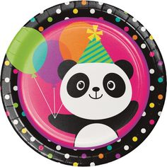 PANDA-MONIUM DINNER Plates Panda Bear Birthday Party Supplies Tableware