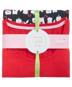 Jenni by Jennifer Moore Knit Top & Printed Pants Pajama Set, Created for Macy's - Purple XXL