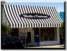 Storefront Awnings and Entrance Canopies Outdoor Awnings, Awning Patio, Black Building, French Boutique, Small Salon, Sidewalk Cafe, Green Rooms, Store Displays, Retail Shop