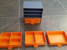 Super Simple to print trays and holder. 1,2,4  compartment trays. Can & SD card for scale.   Internal tray dimensions:   77mm x 55mm   38mm x 55mm x2    38mm x 27mm x4