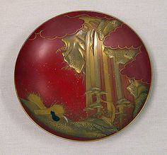 Sake Cup  Shomosai  (Japanese, active late 18th–early 19th century)  Period: Edo period (1615–1868) Date: mid-19th century Culture: Japan Medium: Gold lacquer on red lacquer ground