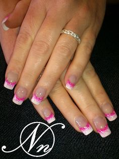 Nageldesign French nails design galerie - Wedding Bouquet: How To Ma French Nails, Gel French Manicure, Nail Manicure, French Pedicure, French Manicures, French Nail Designs, Acrylic Nail Designs, Nail Art Designs, Nails Design