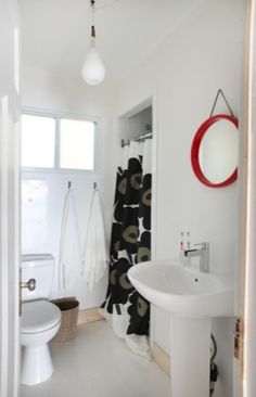 Classic Black and White Marimekko Shower Curtain   #pintofinn