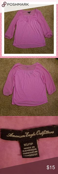 American Eagle Outfitters Orchid Colored Top Size XS,  excellent used condition.  Wear with jeans, skirt, slacks. American Eagle Outfitters Tops Blouses