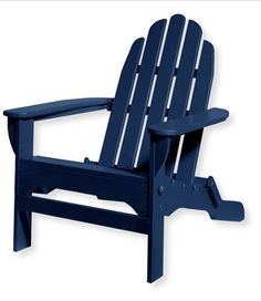 Blue Adirondack beach chair
