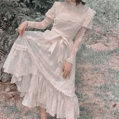 #aesthetic #cottagecore #soft #green Pretty Outfits, Pretty Dresses, Beautiful Dresses, Cute Outfits, Cute Fashion, Vintage Fashion, Fashion Outfits, Vintage Mode, Mode Hijab