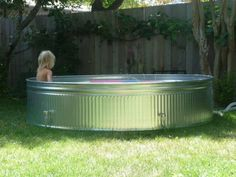 Do youlove the idea of having a swimming pool, but don't have the space orthe moneyto put in a standard one? Then you would love this DIY pool. If you have a livestock tank that you can repurpose into a shallow pool that you and your kids can soak in during warm days. And if you place it on a sloping block like this one, then there is even no need to dig a deep hole for it. You can build a platform around it, with the planks providing a place if you want to sun yourselves or sit on.
