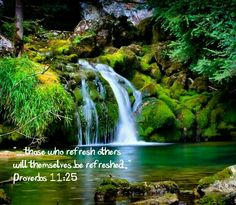 """""""He who refreshes others will himself be refreshed."""" Proverbs 11:25"""