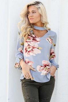 1d1b2c61df28 Tale To Tell Blue Floral Top New Fashion Trends