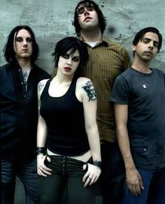Niko, Paul, Joe and I all went as the Distillers for Halloween one year...