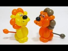 How to make lion balloon. We need two 260 balloons, for body and hair. And scrap of black for nose. Good luck. :)