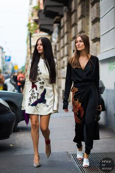 white dress- cute gilda-ambrosio-and-giorgia-tordini-by-styledumonde-street-style fashion-photography,