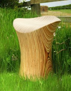 Wooden Stool Stingray Stool Birch Wood Chair by JolyonYates