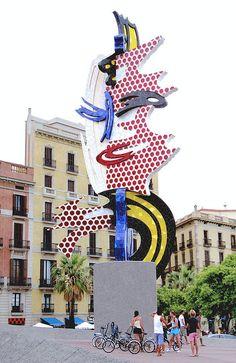 Roy Lichtenstein sculpture: The Head of Barcelona