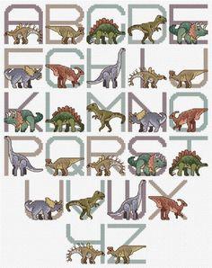 Jurassic Park Alphabet Cross Stitch Pattern by LaelsBeachJewelry
