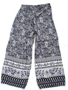 Pantaloni etnici a gamba larga