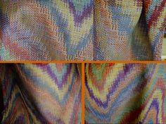 Multi colour double weave, with variations   Weefschool de Hoeve