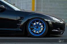 RX8 with blue wheels!
