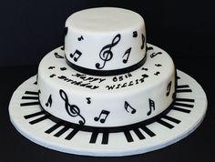 Piano Cake by Cecy Huezo .  www.delightfulcakesbycecy.com Piano Cakes, Music Cakes, Cake Stuff, Birthday Cakes, Event Planning, Birthdays, Cookies, Health, Desserts