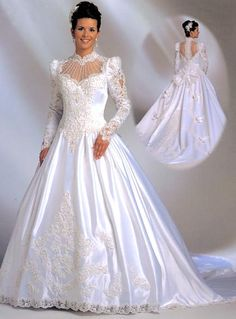 now this is very close to the bottom of my dre.now this is very close to the bottom of my dress.it was so heavy that the bustle wou. Beautiful Wedding Gowns, Dream Wedding Dresses, Bridal Dresses, Beautiful Dresses, Vintage Bridal, Vintage Dresses, Marie, Photos, White Satin