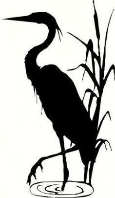 wall decal Blue heron crane decor nature animal beach decal summer decal living room decal bedroom decal outdoors wildlife vinyl decal decor wall decal Blue heron crane decor by WallDecalsAndQuotes on Etsy Bird Stencil, Stencil Art, Stencils, Stencil Patterns, Animal Silhouette, Silhouette Art, Sommer Tattoo, Heron Tattoo, Nature Animals