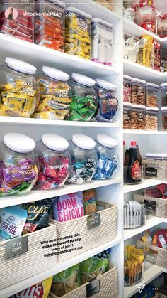 49 Nice Pantry Organization Ideas The pantry organizers are greatly needed in yo. - 49 Nice Pantry Organization Ideas The pantry organizers are greatly needed in your kitchen because - Kitchen Organization Pantry, Home Organisation, Organization Hacks, Organizing Ideas, Organized Pantry, Organizing Solutions, Pantry Ideas, Organising, Storage Hacks