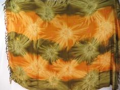earth yellow star burst tie dye sarong summer fashion $5.25 - http://www.wholesalesarong.com/blog/earth-yellow-star-burst-tie-dye-sarong-summer-fashion-5-25/