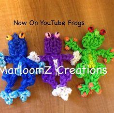Rainbow loom frog