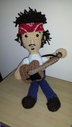 Little Bruce is a replica of the bandana wearing rocker in his earlier years. He measures about 12 inches tall and even sports a bandanna in his back pocket of his jeans