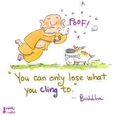 Buddha Doodle - 'Cling'by Mollycules♥ please share the DAILY love of Buddha Doodles with your friends ♥