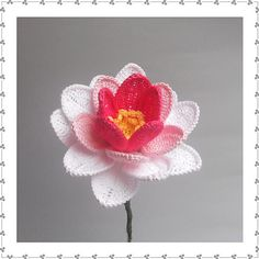 Crochet Pretty Water Lily Video Tutorial