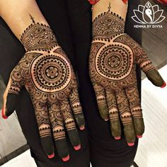 It's here wedding henna or Mehndi design then Click visit link to see Dulhan Mehndi Designs, Mehendi, Latest Bridal Mehndi Designs, Simple Mehndi Designs, Mehndi Designs For Hands, Mehandi Designs, Hena Designs, Mehndi Tattoo, Henna Tattoo Designs