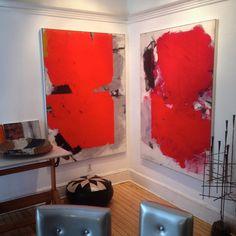 Ivo Stoyanov, Studio wall - Dark Orange & Red