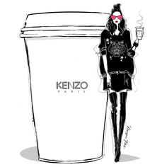 """5,163 Likes, 28 Comments - Megan Hess (@meganhess_official) on Instagram: """"I'm getting comfy in KENZO with my second (ok, third) coffee today! #MeganHessCoffeeGirls"""""""