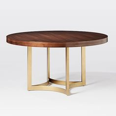Uptown Round Dining Table | west elm - may be too fancy for kitchen but cool table : )