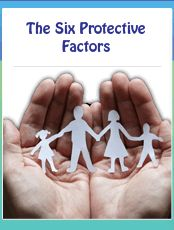 National Child Abuse Prevention Month-- six protective factors to lower incidence of child abuse.