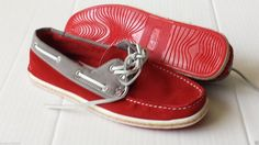 GBX men size 8.5 red color boat style #leather shoes visit our ebay store at  http://stores.ebay.com/esquirestore