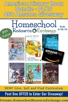 Homeschool Resource Exchange is having an American History Bundle Giveaway! Find out how to win!